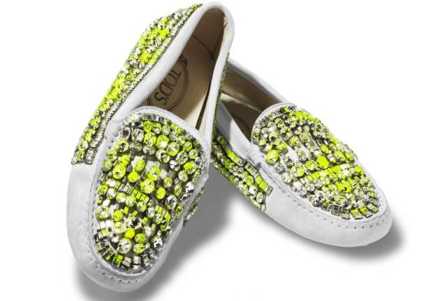 Tod's Couture 'made to order' bedazzling loafers..